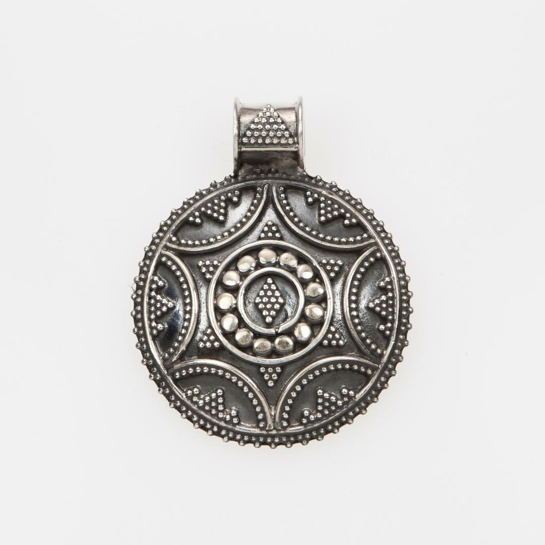 Pandantiv rotund, mic, stea, argint, India