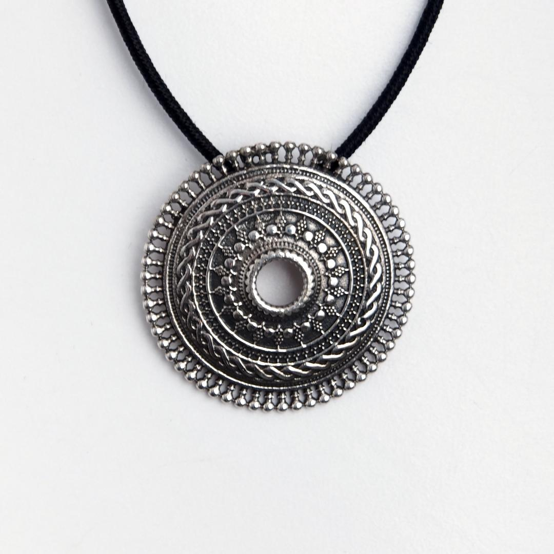 Pandantiv rotund Nagpur, argint, India