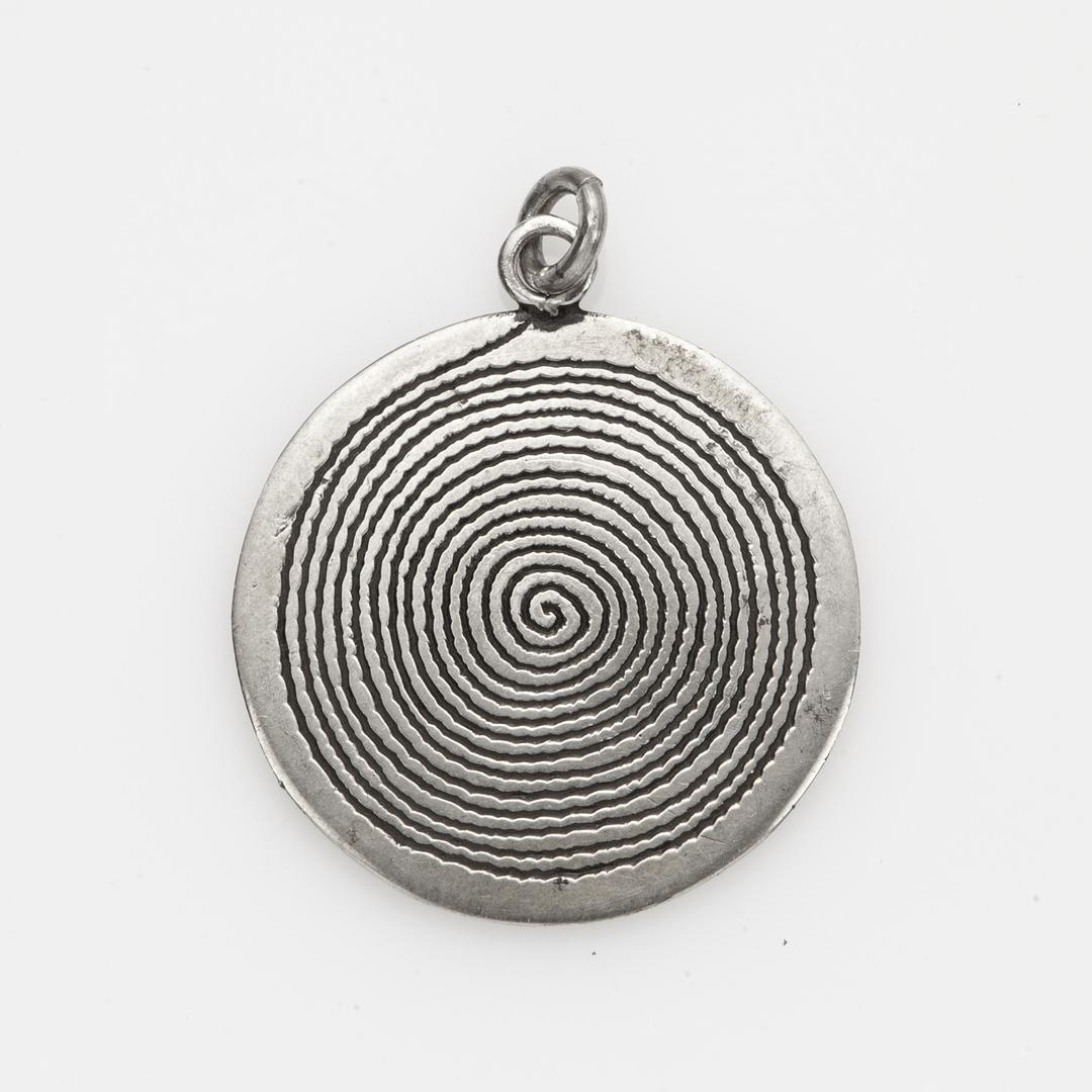 Pandantiv spirală, argint, Sahara