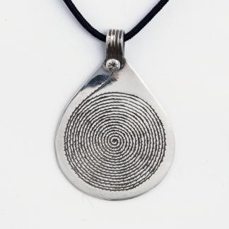 Pandantiv spirală Waza, argint, Niger