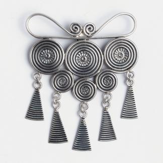 Pandantiv statement spirale Veera, argint, Thailanda