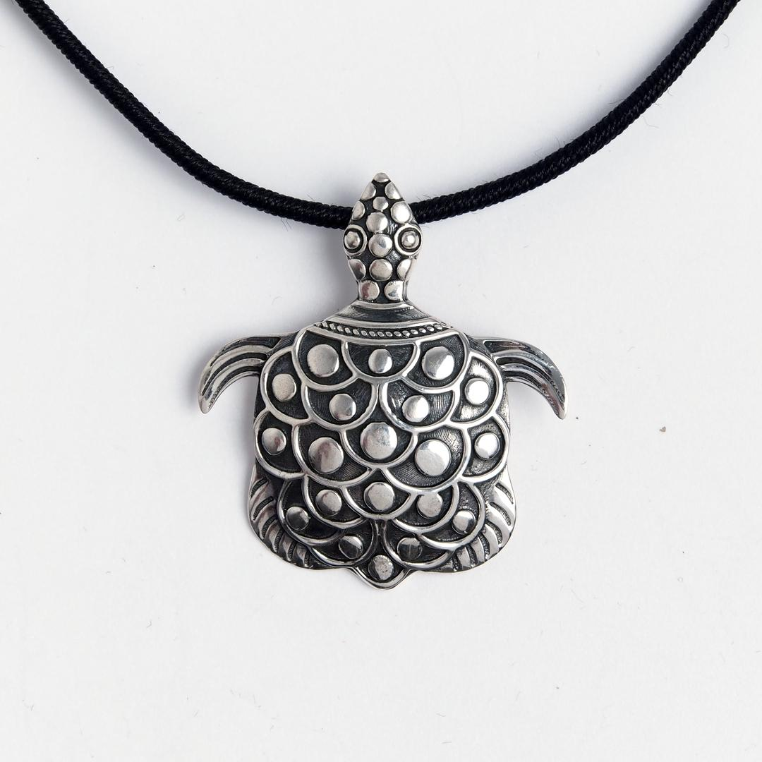 Pandantiv țestoasă, argint, Indonezia