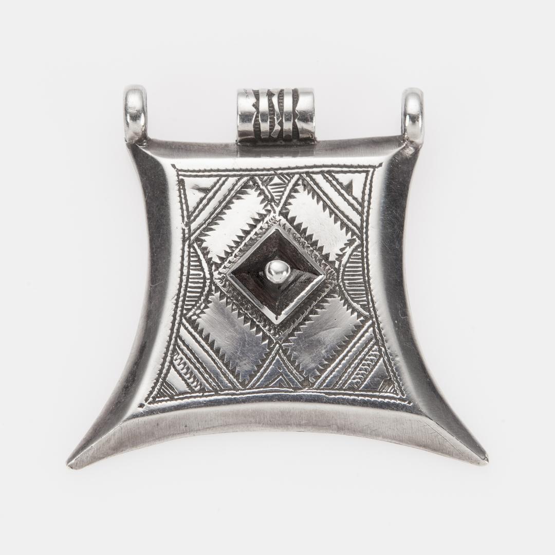 Pandantiv tuareg kitab, argint și abanos