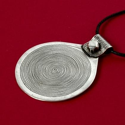 Pandantiv tuareg spirală argint