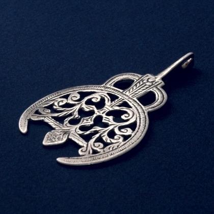 Pandantiv tunisian Djerba, argint, sec XX