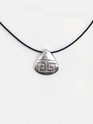 Pandantiv din argint Meandre cu șnur de 40 cm