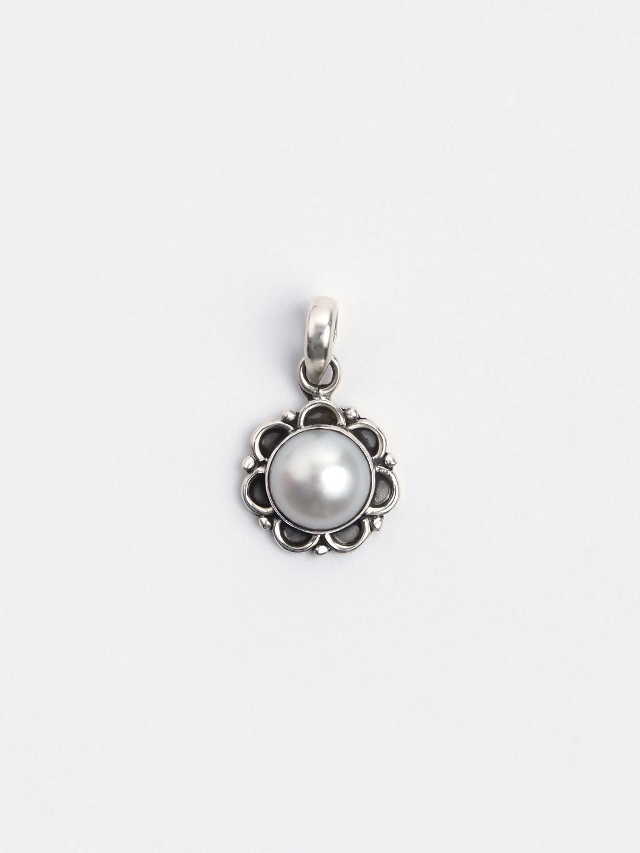 Pandantiv argint și perlă de cultură Saphed, India