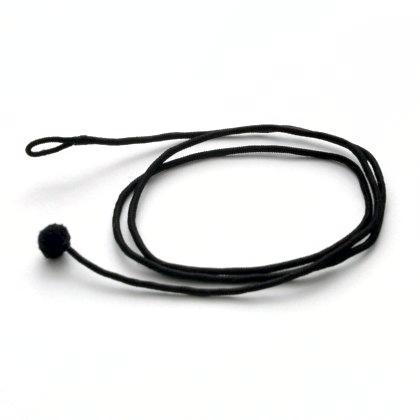 Șnur indian, negru, subțire, 72 cm