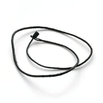Șnur tuareg, negru, piele, 50 cm